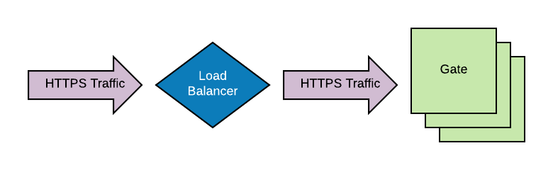 SSL terminated at server through load balancer